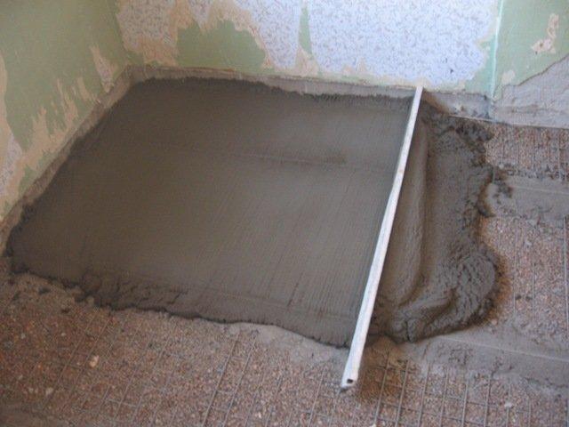 ванная стяжка пола