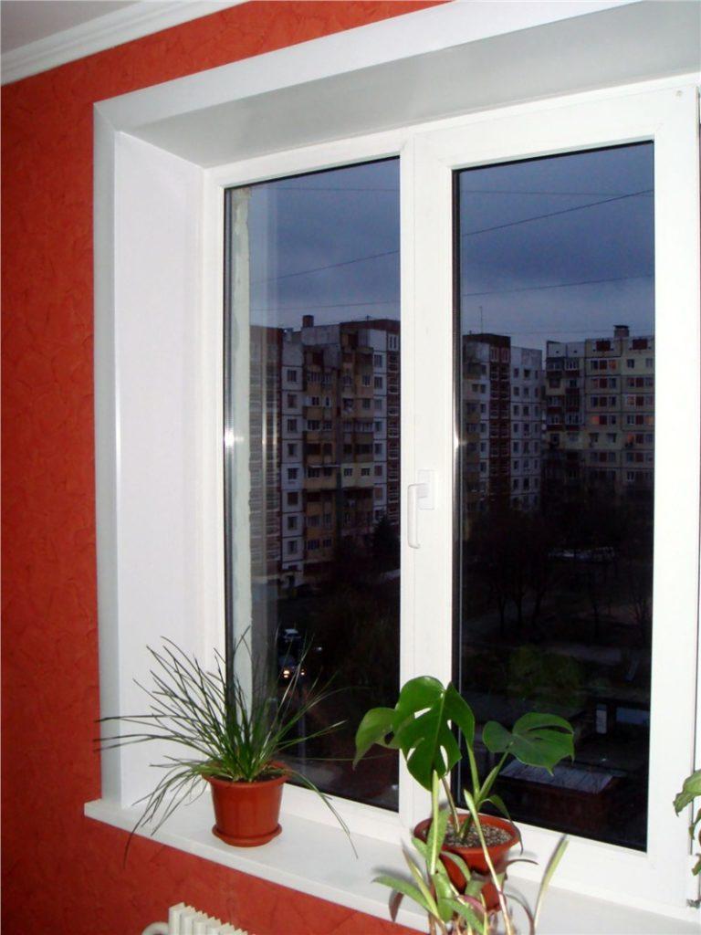 откос окно